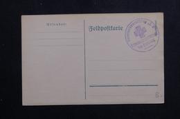 ALLEMAGNE - Cachet En Bleu Sur Carte De Correspondance En Feldpost ( Période 1914/18 ) - L 61474 - Storia Postale