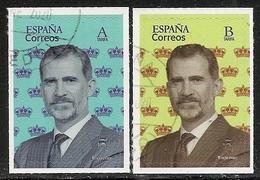 2020-ED. 5375 Y 5376 - BÁSICA FELIPE VI '' A '' Y '' B ''-USADO- - 1931-Oggi: 2. Rep. - ... Juan Carlos I