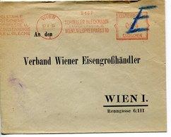 54878 Austria, Red Meter Freistempel 1935 Wien  Schoeller Bleckmann, Circuled Cover - Poststempel - Freistempel