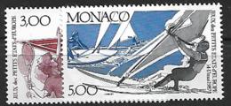 Monaco 1987 Yvert 1579/80 Neufs** MNH (AA123) - Unused Stamps