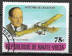 HAUTE VOLTA  -  1978  . Y&T N° 450 Oblitéré.  Anthony H. G. Fokker /  Avion. - Alto Volta (1958-1984)