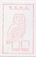 Meter Cut Netherlands 1989 - Hasler 7946 Bird - Owl - Vogels