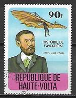 HAUTE VOLTA  -  1978  . Y&T N° 452 Oblitéré.  Otto Lilienthal   /  Avion. - Alto Volta (1958-1984)