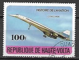 HAUTE VOLTA  -  1978  . Y&T N° 453 Oblitéré.   Concorde   /  Avion. - Alto Volta (1958-1984)