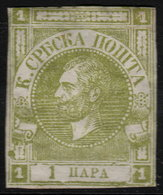 ✔️ Serbie Servië 1867 - Michael III -  Mi. 9B  * MH - €50 - Serbien