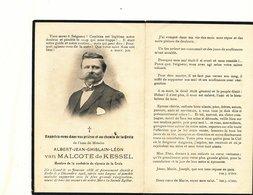Doodsprentje   ALBERT Van Malcote De Kessel   Gent  1858 Zulte 1905 - Godsdienst & Esoterisme