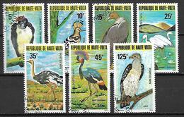 HAUTE VOLTA  -  1979 . Y&T N° 497 à 503 Oblitérés.  Oiseaux.  Série Complète. - Alto Volta (1958-1984)