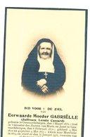 Doodsprentje  ZUSTER NON NONNE     Moeder Gabrielle    Geraardsbergen 1851  Maria Jozef   1931 Meerbeke - Godsdienst & Esoterisme