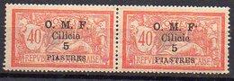 Cilicie N° 94 (Merson) Neuf * - Variété Point Après F Plus Haut (timbre De Droite) Tenant à Normal - Neufs