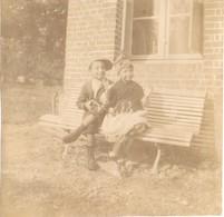76 AUZOUVILLE SUR SAÂNE - Garçon Avec Sa Carabine - Jouet - Photo Originale Albuminée De 1894 ! Saint Laurent En Caux - Old (before 1900)