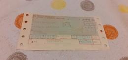 BIGLIETTO TRENO DA VENEZIA MENTRE A TRIESTE CENTRALE 1982 - Trenes