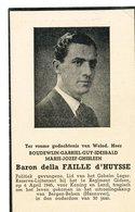 DOODSPRENTje  Baron Della Faille D Huysse  Geheim Leger Politiek Gevangene   Bergen Belsen  Hannover 6 April 1945 - Godsdienst & Esoterisme