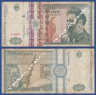 ROMANIA 500 Lei 1992 CONSTANTIN BRANCUSI And SCULPTURE FOR THE BLIND - Romania