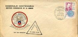 54887 Chile, Special Cover And Postmark 1974 Homenaje Centenario Instituto Hidrografico De La Armada - Chili