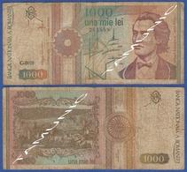 ROMANIA 1000 Lei 1991 MIHAIL EMINESCU And MONASTERY PUTNA - Romania