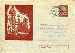 54888 Romania, Stationery Cover Crculed 1960 Showing Oils Wells, Ölquellen,puits De Pétrole - Oil