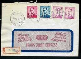 Doc. De  ESSEN - C C - Du 20/05/66 Avec S61- 62 - 63 Sur Courrier TEE (Trans Europe Express) En Rec. - Chemins De Fer
