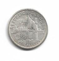 10 CENTAVOS 1952 ARGENT - Cuba