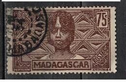MADAGASCAR           N°  YVERT   173 ( 16 )   OBLITERE       ( Ob   7 / 36 ) - Madagascar (1889-1960)