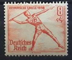 Allemagne / Deutsches  III E Reich 1936,Olympics BERLIN JO Jeux Olympiques JAVELOT, Yvert 568 ,  Neuf ** MNH TB - Summer 1936: Berlin