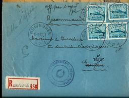 Doc. De  GRIVEGNEE - A 2 A - Du 19/08/47  Avec N° 725 X4 (Ostende-Dover)   En Rec. - Belgien