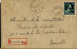 Doc. De  GRIVEGNEE - B 1 B - Du 26/01/48 Avec N° 724P (côte: 20€)   En Rec. - 1946 -10%