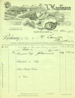 "HILDEN B Düsseldorf 1911 Rechnung Besonders Deko "" J.Kaufmann Kaffeerösterei "" - Alimentaire"