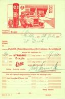 """HAMBURG 1934 Rechnung Farbig,besonders Deko """" Tankstelle Oldtimer Standard-Esso-Benzin """" - Automobile"""