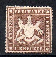 WURTEMBERG - YT N° 16B - Cote: 180,00 € - Papier épais - Wurtemberg