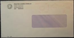 Belgium - Advertising Meter Franking Cover 1984 Mechelen Logo Procter & Gamble Benelux - Franking Machines
