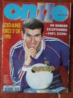 Revue Onze Mondial N°119 (décembre 1998) Zidane Onze D'or 1998 - Numéro 100% Zidane - Sport