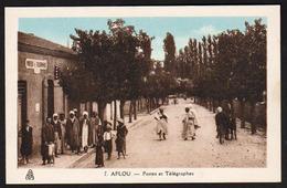 AFLOU (Algérie) Belle Animation Devant Le Bureau Des Postes Et Télégraphes - Alger