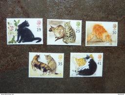 1995 PETS CATS ART DRAWINGS FLOWERS LILLIES SET MNH - Ungebraucht