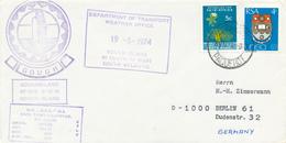 RSA / SOUTH AFRICA  - 1974  ,  GOUGH ISLAND   -  Weather Office  -  ANTARCTIS  -  PAQUEBOT - Non Classés