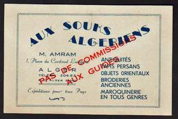"""ALGER(Algérie) """" Aux Souks Algériens"""" Belle Carte Pub Neuve De La Maison Amram. Superbe - Alger"""