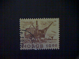 Norway (Norge), Scott #752, Used (o), 1979, Oil Rig, 10k, Brown And Bister - Norvège