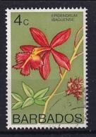 Barbados: 1974/77   Orchids  SG488    4c    Used - Barbados (1966-...)