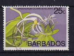Barbados: 1974/77   Orchids  SG494    25c    Used - Barbados (1966-...)