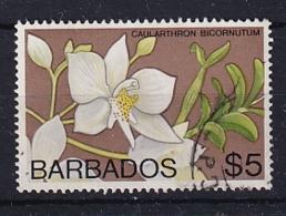 Barbados: 1974/77   Orchids  SG499    $5    Used - Barbados (1966-...)