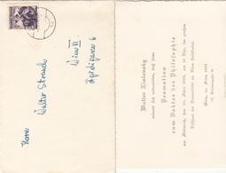 V1 - Österreich 1955 - 30 Gro Auf Brief Mit Inhalt (Promotionskarte Dr.d.Philosophie), Gel.n. Wien VI - Faire-part