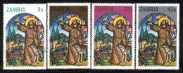 Zambia - Zambie 1980 Yvert 225-28, Christmas. Religion. Christianity, Baby Jesus & St Francis - MNH - Zambia (1965-...)