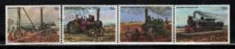 Zambia - Zambie 1983 Yvert 267-70, Transport. Agriculture. Steam Farm Machinery & Locomotive, Train - MNH - Zambia (1965-...)