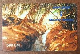 MAURITANIE MAURITEL MOBILES 500 UM RECHARGE GSM PRÉPAYÉE PREPAID PHONECARD - Mauritanie
