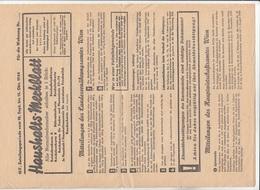 V1 - Haushaltsmerkblatt 1944, A4 Format, Gefaltet - Faire-part