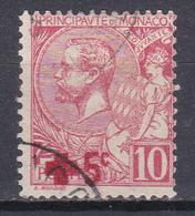 Monaco Prince Albert 1er Typographie 1914 Au Profit De La Croix Rouge N°26 Oblitéré - Used Stamps
