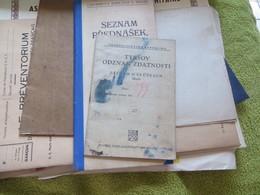 Lot De Documents Peut-etre Tchécoslovaquie,,ne Me Demandez Rien,,je N'y Comprends Rien,,mille Excuses - Documenti Storici