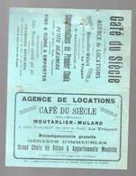 Le Tréport -Abancourt- Beauvais- Paris) Horaire Des Marées Et Des Trains  1914 + Pubs Locales (PPP22928) - Europe