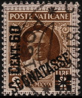 ✔️ Vatican City 1931 - Postage Due Segnatesse  Key Value - Mi. 5 (o) - €25 - Postage Due