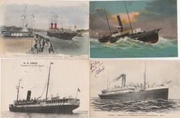 "8 CPA:STEANER ""LA LORRAINE"",PAQUEBOT S.S.ABDA,""FIGUIG"",BÂTEAU L'AUGUSTIN NORMAND,R.M.S. IVERNIA & SAXONIA,S.M.S.LORELEY, - Barche"