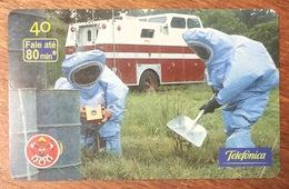 POMPIER RISQUE CHIMIQUE BRESIL BRASIL CARTE TÉLÉPHONIQUE INDUCTIVE POUR COLLECTION TÉLÉCARTE - Pompiers